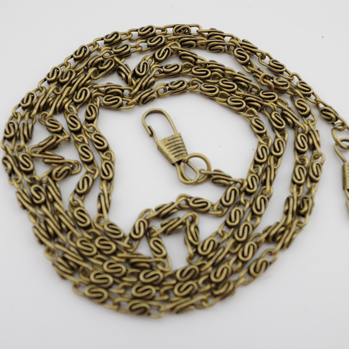 "47"" 120cm 20pcs/lot antique brass bronze metal handbags bags purse handle chains strap sewing DIY accessory(China (Mainland))"