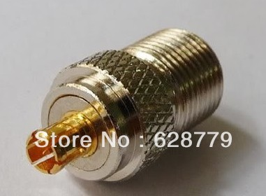 MCX male to F female RF connector adapter(China (Mainland))