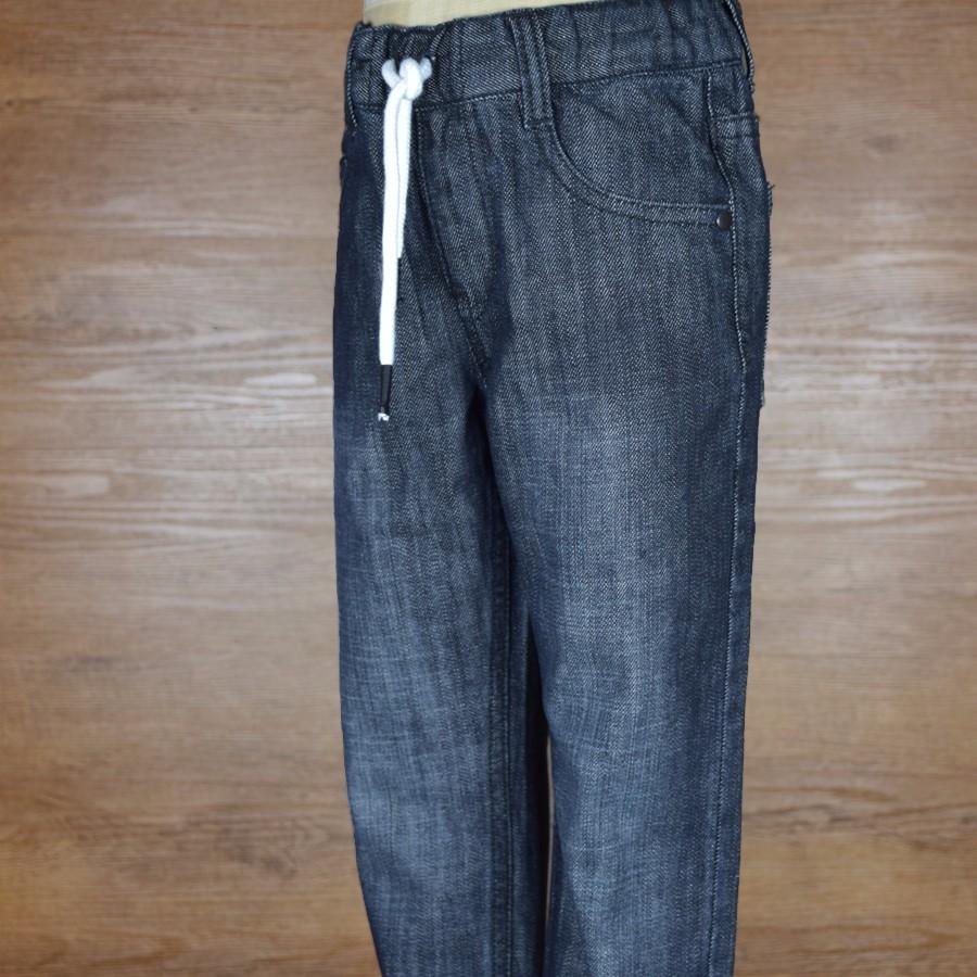 HSBN161003-5Christmas Winter Warm Stylish Baby Boys Denim Jeans Kids Pants Children Clothes Adjustable Elastic Waist Trousers