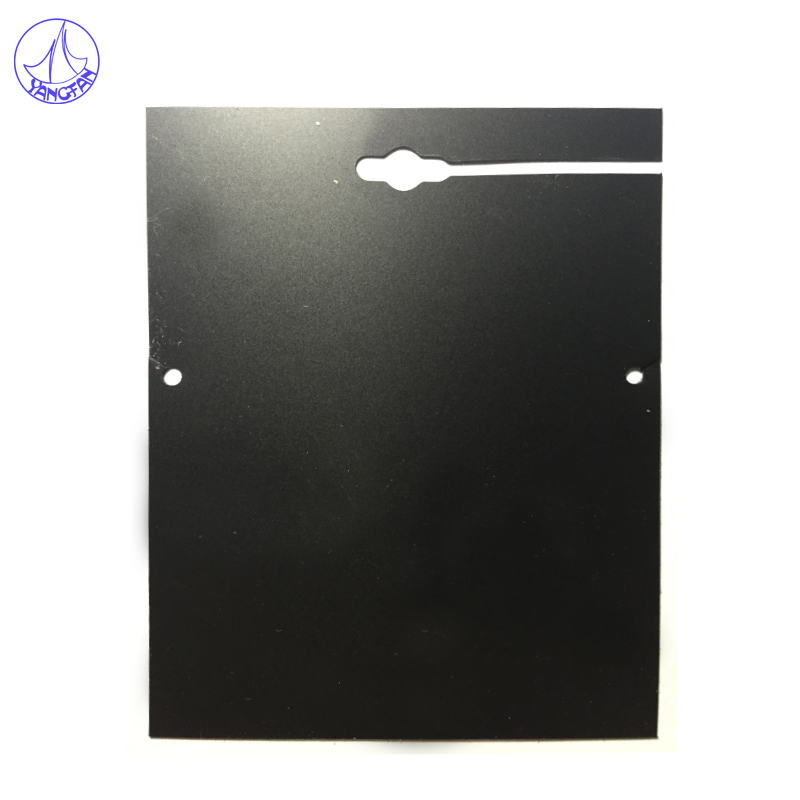 Free Shipping 100Pcs Plastic Necklace Jewelry Card Display Packing 8.5x11.6cm Black Jewelry Display Shelf Card JC#717(China (Mainland))