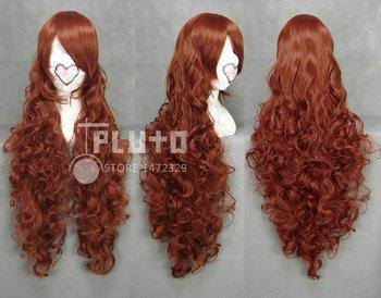 [Rozen Maiden] Jade Stern / Suiseiseki Red Brown Wavy Long 90cm Anime Cosplay Wig