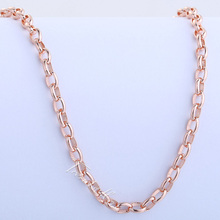 4MM Oval Link Mens Chain Womens Unisex Girls Boys 18K Rose Gold Filled GF Necklace Customize
