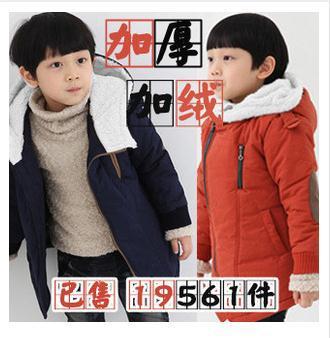 80-160 cm 1-15 years Kids oblique zipper boys coats winter Korean childrens clothing plus thick velvet jackets child Outerwears<br><br>Aliexpress