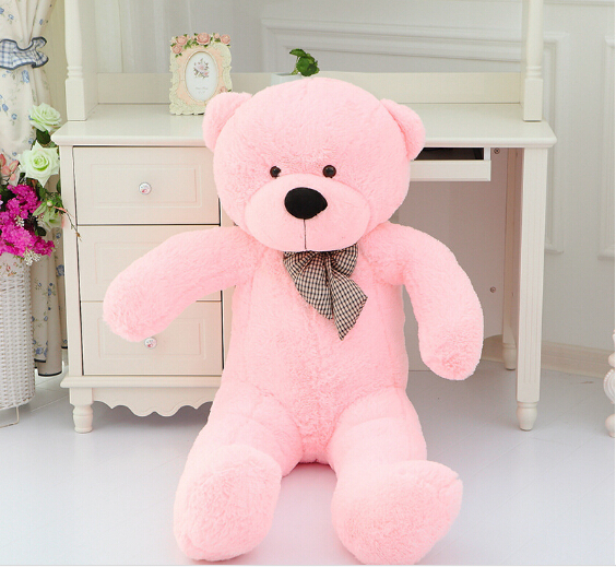 [5COLORS] teddy bear 100cm big stuffed plush animals pink soft hot toys kid doll for baby girls valentine gift for birthday(China (Mainland))