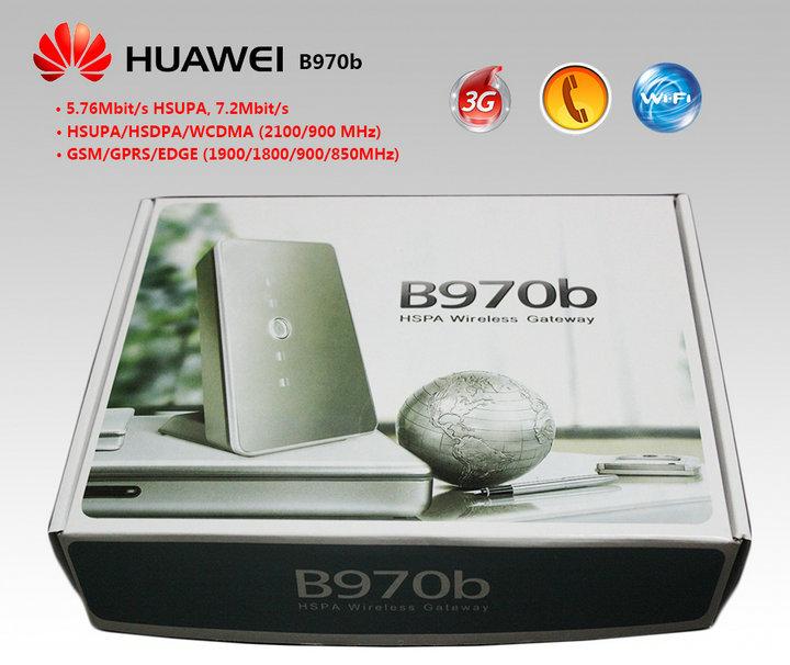 10pcs/lot EMS Free shipping Black Huawei B970b 3G WiFi Wireless Router USB modem unlock(China (Mainland))