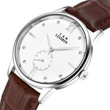 Fashion men and women s business casual wristwatch rose goldren diamond dial watch with calendar small