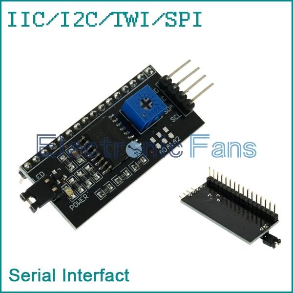 Гаджет  2PCS IIC/I2C/TWI/SPI Serial Interface Board Module Port for Arduino 1602LCD None Электронные компоненты и материалы