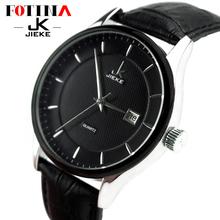 FOTINA Top Brand JK Men Watch Quartz Genuine Leather Cool Black Watch Women Dress Sport Wristwatch Male Clock Relogio Masculino