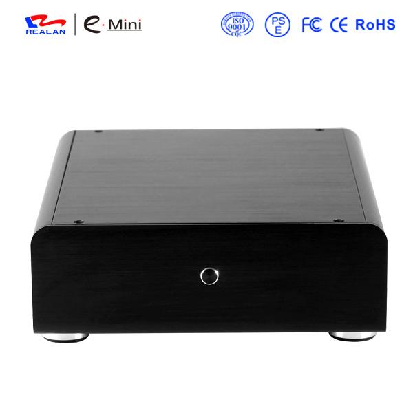 Realan Slim Mini ITX Aluminum HTPC/NAS/Server PC Case with 12V DC Power Supply(China (Mainland))