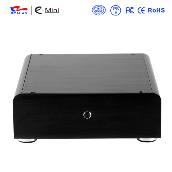 Realan Slim Mini ITX Aluminum HTPC/NAS/Server PC Case with 12V DC Power Supply(China (Mainland))