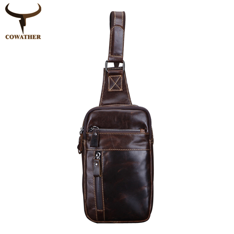 [COWATHER]top quality 2015 vintage cow genuine leather men messenger bags,vintage men bag,bolsa male two colors free shipping<br><br>Aliexpress