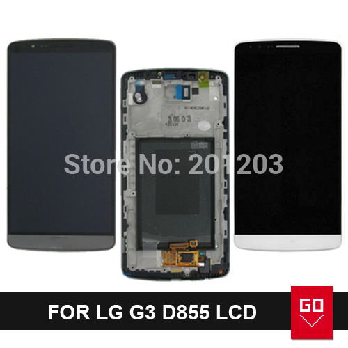 Гаджет  100% Original 2K lcd screen for LG G3 D855 lcd display with frame and touch screen digitizer replacement part complete assembly None Телефоны и Телекоммуникации