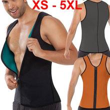 XS - 5XL Plus size waist training corset for men Sport Vest Neoprene waist trainer waist cincher sauna suit hot shaper body M04G(China (Mainland))