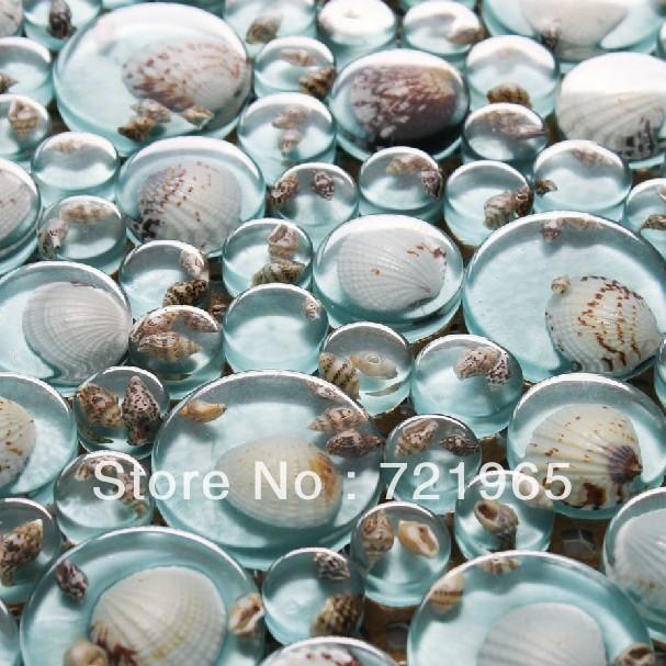 Здесь можно купить  3D glass wall tile backsplash resin shell mosaic RNMT057 blue glass mosaic mother of pearl bathroom wall & floor tiles  Строительство и Недвижимость