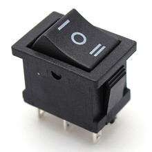 2015 HOT SALE DPDT ON-OFF-ON 6-Terminals 3 Position Snap In Boat Rocker Switch 6A/250V 10A/125V AC New