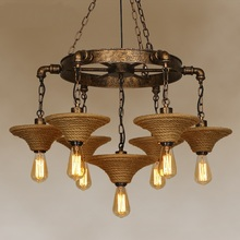 Buy Retro industry Cafe Bar wind clothing living room lights iron rope nostalgic American retro coffee restaurant Pendant Lights ZA for $399.00 in AliExpress store