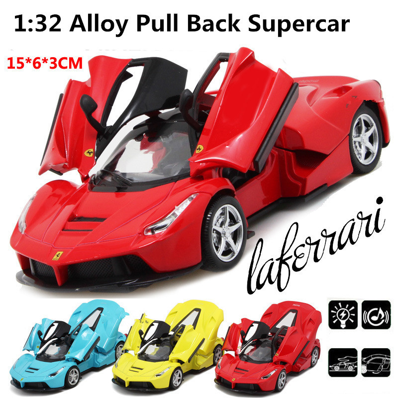 Sports car Racing model, 1:32 scale Alloy Pull Back cars,Diecast World cars gift,Scissor doors,free shipping(China (Mainland))