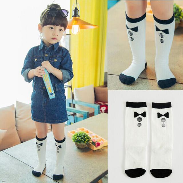 1 пара мода мальчик гольфы для детей дети хлопок поддельные галстук-бабочка дизайн ...