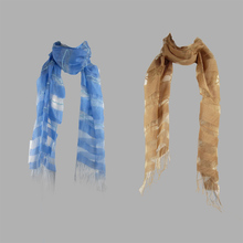 Organza silk wool thermal breathable silk raw silk flock printing long scarf cape(China (Mainland))