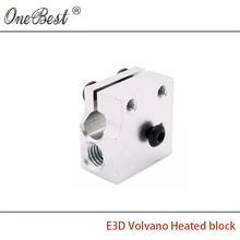 3Pcs E3D Volvano Heated block 3D printer accessories E3D rapid head kit volcanic hot side extrusion head kit heating block parts(China (Mainland))