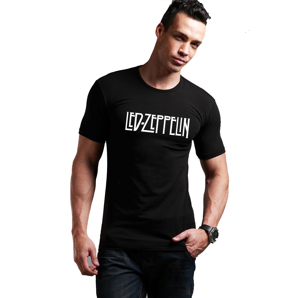 Free Shipping New Male Short-Sleeve T-shirts Led Zeppelin T-shirt Print Zoso T Shirt Logo Led Zeppelin Tshirt Rock Band Top Tees(China (Mainland))