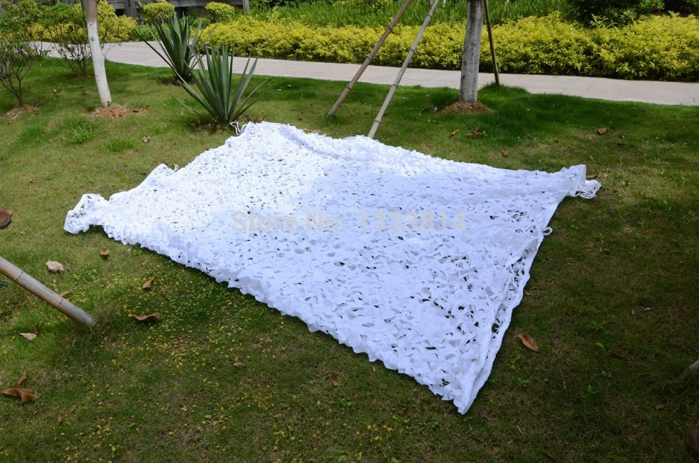10M*10M Snow White Military Camo Camouflage Net Netting Woodland Sun Shelter Camouflage Net for Hunting Camping Cheap Hot Sale(China (Mainland))