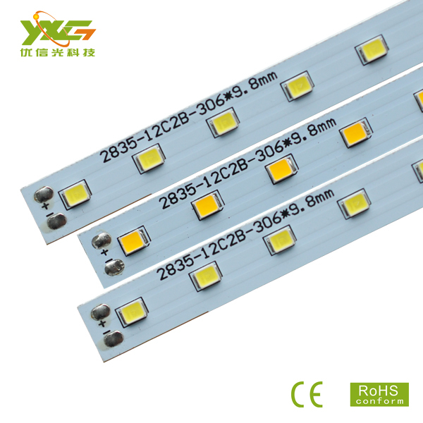 Chinese manufacture new led tube light PCB Board 5w smd 2835 0.3m 36v 12C2B led modules with high quality 10pcs/lot wholesale(China (Mainland))