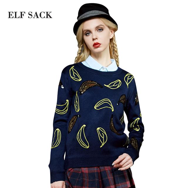 Elf SACK зимой женские основные свитер сладкий пуловер с длинными рукавами свитер