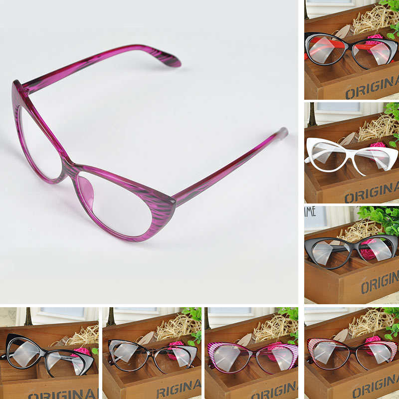 2016 Hot New Cat Eye Glasses Retro Fashion Women Clean Lens Glasses ...