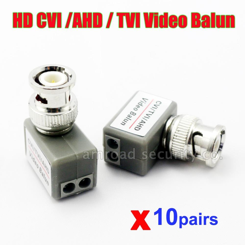 10Pairs HD CVI/TVI/AHD 1 Channel Video Balun Twisted BNC BNC Video Balun Transceiver Network up to 2000ft Range(China (Mainland))