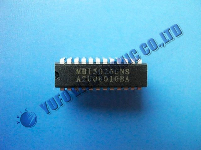 Free Shipping One Lot 25PCS MBI5026, MBI5026GNS, 16-ch LED Constant Driver, MacroBlock Brand New!!(China (Mainland))