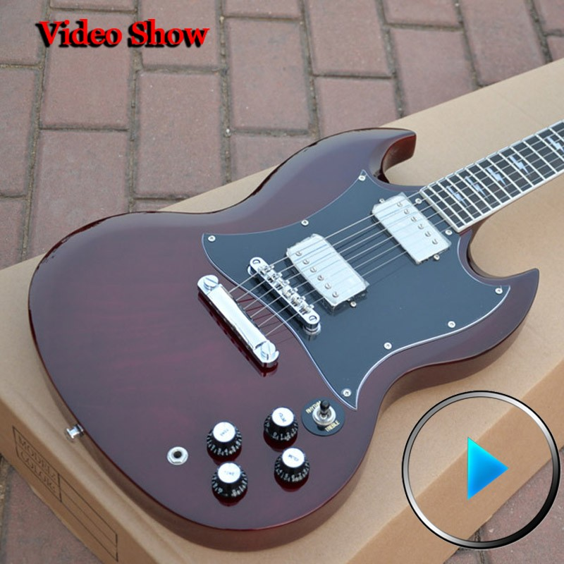 Angus Young Signature SG Aged Cherry mahogany instrumentos musicales high quality complete china electric guitar free shipping(China (Mainland))