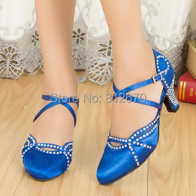 Samba hook and loop ladies shoes women Satin dance legend ballroom shoes close toe rhinestone ballroom dancing shoes XC-6372<br><br>Aliexpress