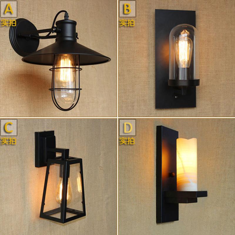 American loft iron wall lamp vintage wall light bedroom bar coffee decoration light industrial lamps Retro Industrial Bathroom(China (Mainland))