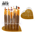 MAANGE 20 holes heart Acrylic Holder Stand for Makeup Brushes set golden Dryer display Brush tower
