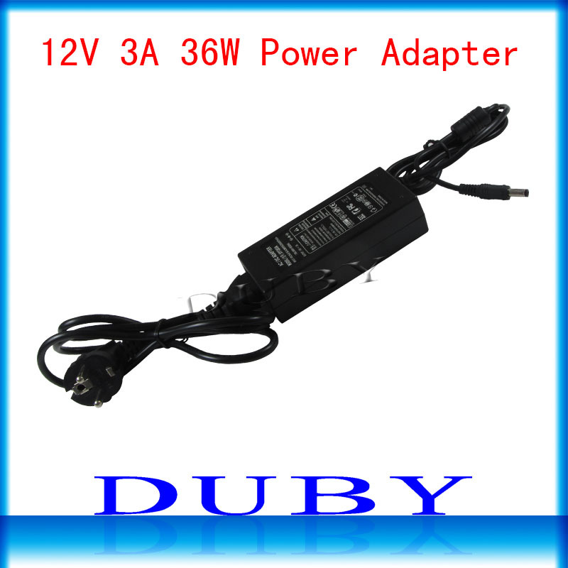 12V3A New AC 100V-240V Converter power Adapter DC 12V 3A Power Supply EU/US/UK Plug DC Free shipping(China (Mainland))