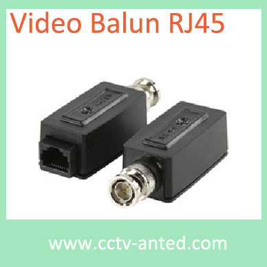 Wholesale 100 Pieces 1 Channel Passive UTP Video Balun RJ45 Transceivers(China (Mainland))