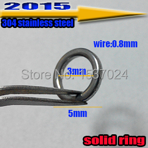 Come and buy! 100pcs fishing lures solid ring size:0.8*3mm*5mm the best quality 304 stainless steel(China (Mainland))