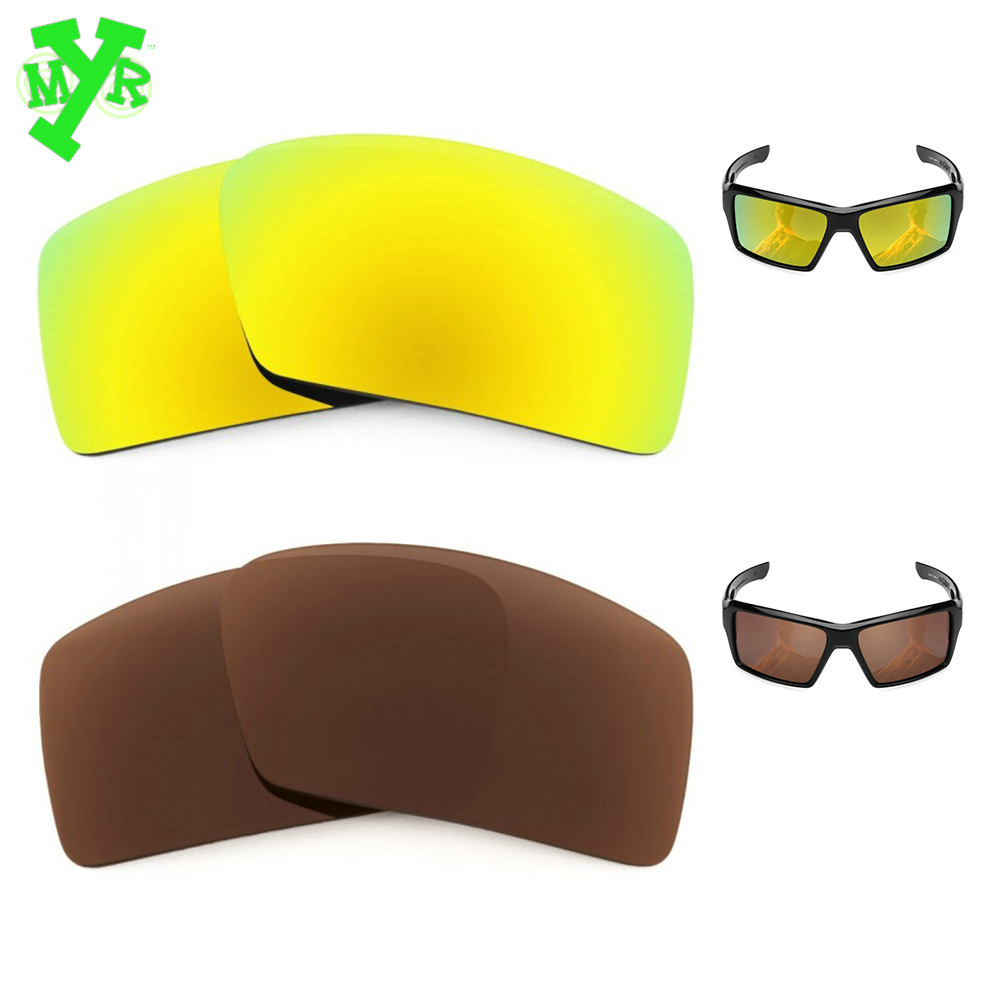 878150fa13 MRY Bronze Brown   24K Gold 2 Pair POLARIZED Replacement Lenses for OAKLEY  Sunglasses EYEPATCH 2
