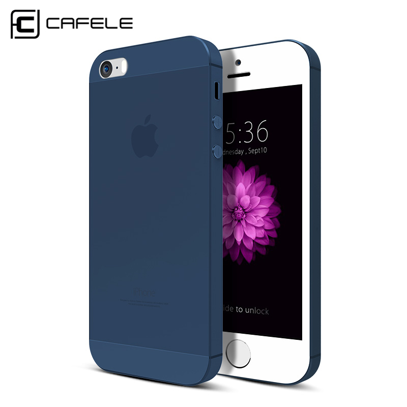 CAFELE Original Brand Phone Cases For iPhone 5 5s SE Fashion Candy Color Frosted Cell Phone Case For iPhone 5s case Back Cover(China (Mainland))