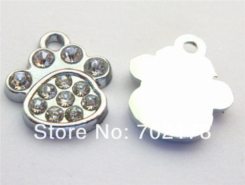 DIY charms Hang Charms 100pcs paw Fit Pet Collar Necklace Bracelet Cell Phone Charms approximately 18x17mm stocked