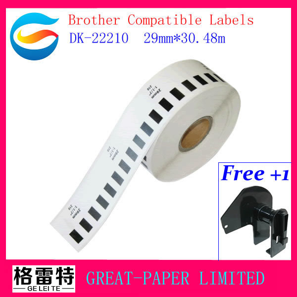 29x Rolls Real for Brother Compatible Labels DK-22210 DK22210 dk-2210 dk22210 dk2210 Thermal Label free shipping(China (Mainland))