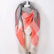 ZALA Women Winter Scarf 2016 Brand Plaid Scarf New Designer Unisex Acrylic Basic Shawls Women Scarves Big Size shawls(China (Mainland))