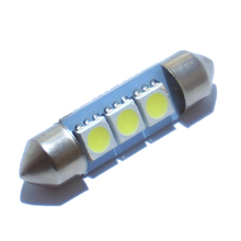 10PCS 36mm 39mm 41mm DC 12V C5W Cold White 3 SMD 5050 LED Festoon Interior Dome Light Lamp Bulb For Car(China (Mainland))