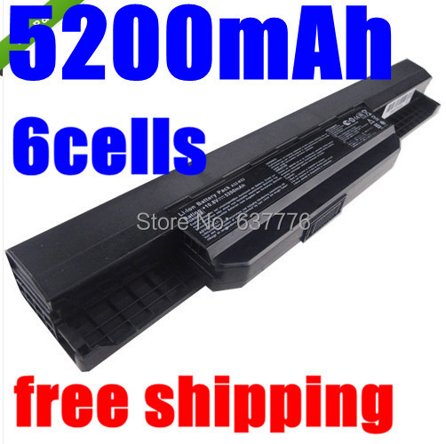 5200mAh laptop battery Asus A32 k53 A42-K53 A31-K53 A41-K53 A43 A53 K43 K53 K53S X43 X44 X53 X54 X84 X53SV X53U X53B X54H - SUNWAY ELECTRONIC Store store