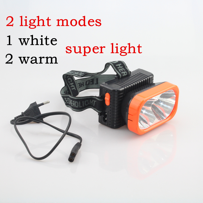 Rechargeable or 2 x AA battery super Bright LED Warm and white light Headlamps with Headband flashlight head lamp Head light