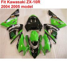 Buy High plastic fairings Kawasaki ninja ZX10R 04 05 green black fairing kit ZX10R 2004 2005 OP28 for $339.48 in AliExpress store