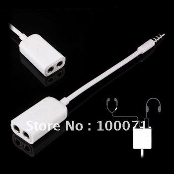 2 x 3.5mm Headphone Splitter Jack Cable for Mobile Phone #1441