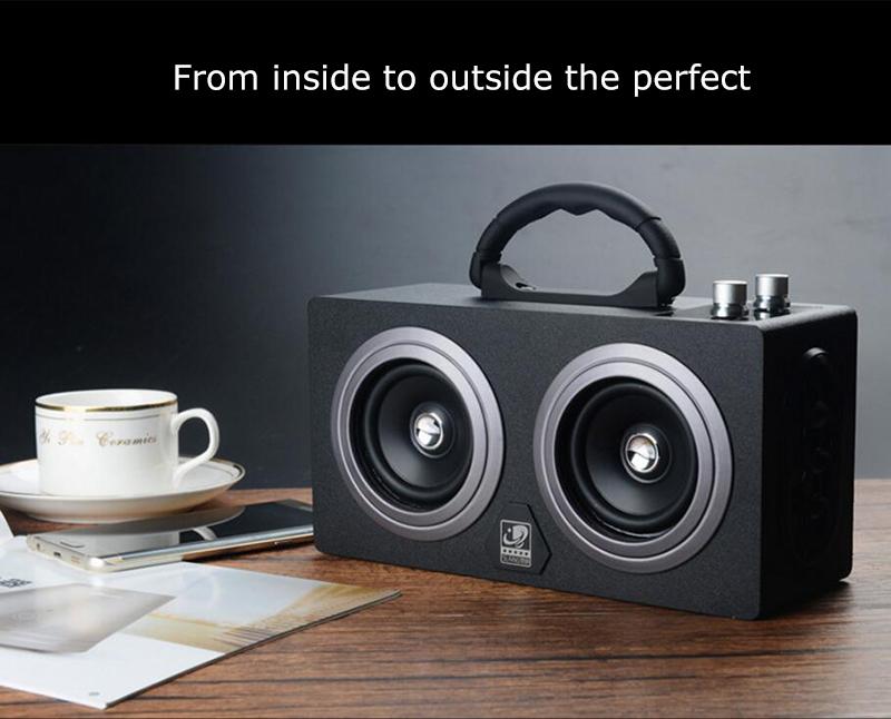 speaker wood USB microphone FM 14