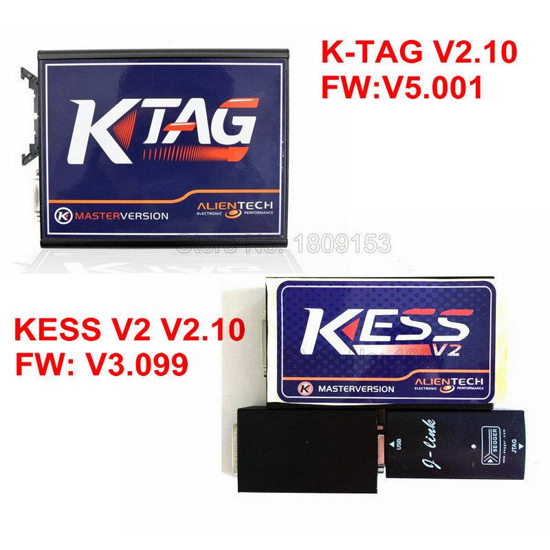 KESS V2 V2.10(Firmware V3.099) + KTAG K-TAG V2.10(Firmware V5.001) No Token Limitation ECU Programming Tool(China (Mainland))
